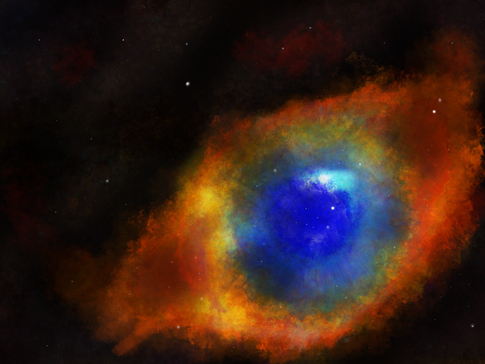 helix nebula eye of god - HD 1024×768